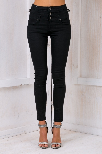 Coco Latte high rise jeans - Black denim