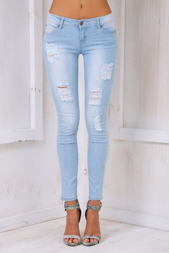 Maple Skinny leg jeans- Light washed denim