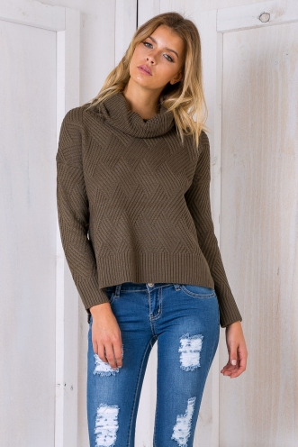 Jossie turtle neck jumper - Khaki