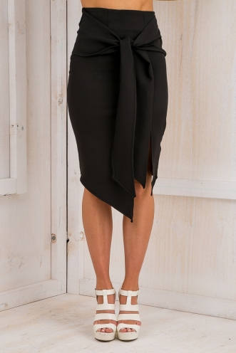 Atlanta sash skirt - Black