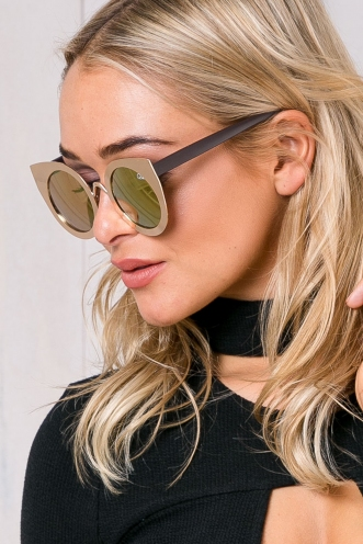 Tainted Love Quay Sunglasses - Gold/Pink