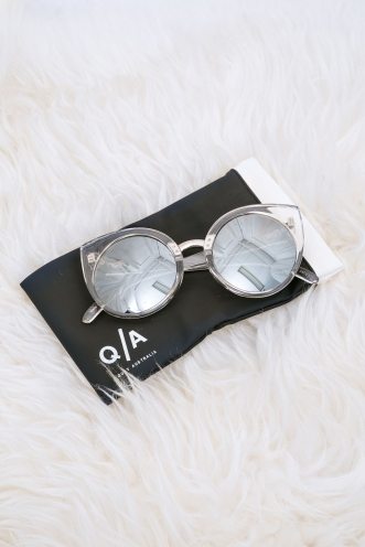 China Doll Quay Sunglasses - Clear/Silver