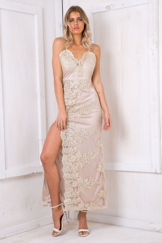 Addison lace dress - Gold