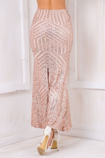 Dare to Dream Sequin Skirt - Gold