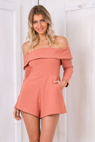 Riley playsuit - Terracotta