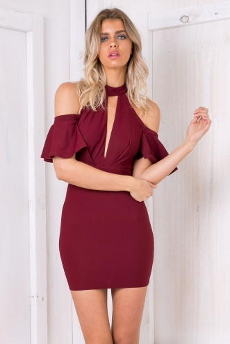 Daylee dress - Maroon