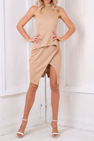 Stacey Low Back Dress - Toffee