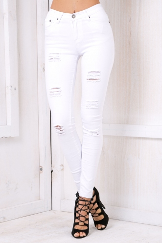Hayley high rise jeans - White