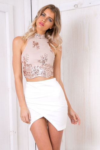 Harper crop top - Rose gold/Beige