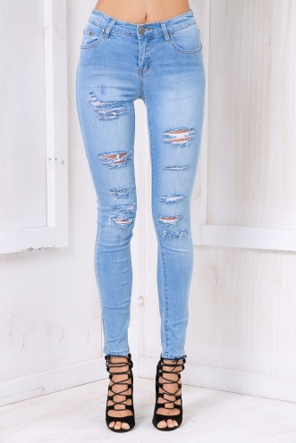 Danni skinny leg jeans - Light Denim