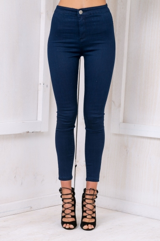 Harriet High waisted jeans - Dark Blue Denim