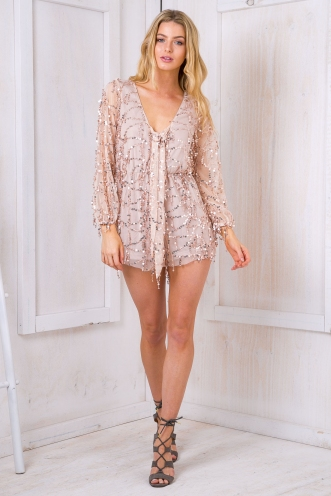 Golden girl playsuit - Rose gold