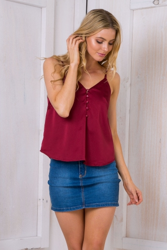 Stuck on you cami top - Maroon