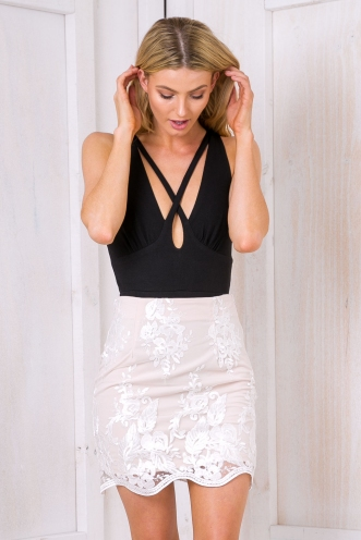 La-La lace mini skirt - White