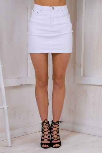 The classics mini skirt - White Denim