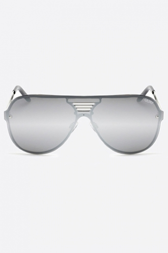SHOWTIME QUAY SUNGLASSES - SILVER/SILVER