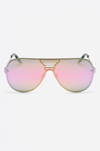 SHOWTIME QUAY SUNGLASSES - BLACK/PINK