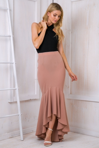Bella Evening maxi skirt - Beige SALE
