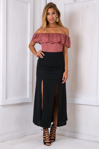 Ella evening maxi skirt - Black