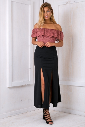 Ella evening maxi skirt - Black SALE