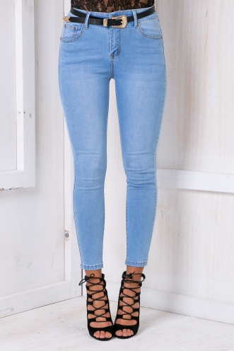 Charlotte high waisted jeans- Light denim