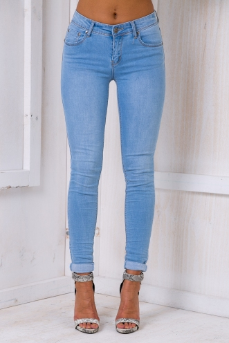 Evelyn skinny leg jeans - Light wash denim