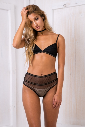 Kate lace bra/undies set - Black