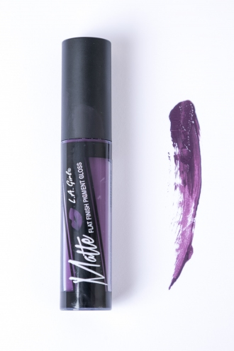 LA Girl Matte Flat finish pigment gloss- Black Currant