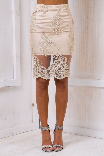 Addison lace skirt - Gold