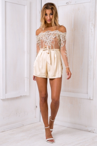 Romee lace playsuit - Gold