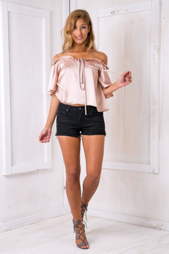 Dorothy Denim Shorts - Black
