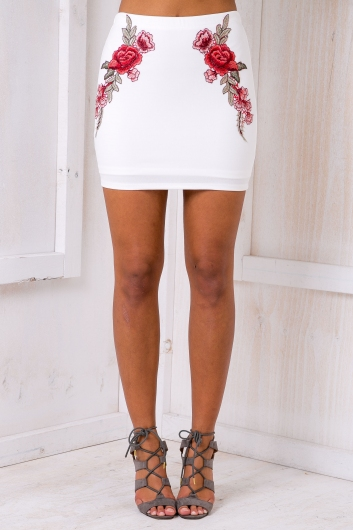 Rosie mini skirt - White