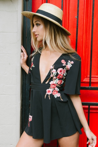 Jaylee playsuit - Black