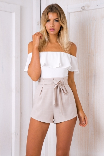 Katie playsuit - White/Beige
