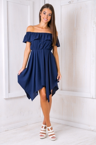 Mel strapless dress - Navy