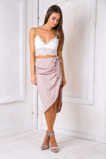 Wrap it skirt - Beige