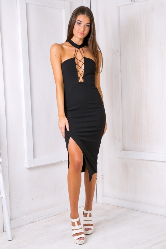Up in smoke dress -Black-SALE