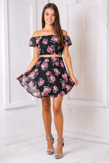 Sweet kisses skirt - Pink rose