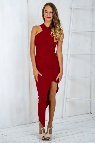 Tahnee evening dress- Wine Red