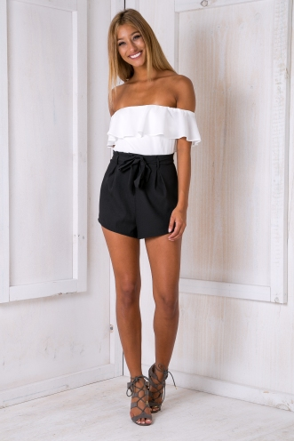 Katie playsuit - Black/White