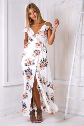 Layla maxi dress - White floral