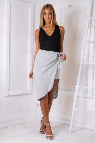Wrap it skirt - Grey