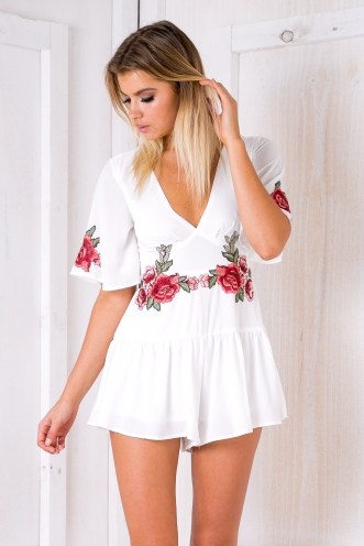 Alison playsuit - White-SALE