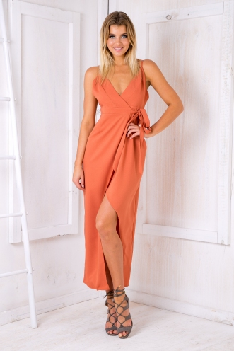 Island breeze dress - Burnt orange
