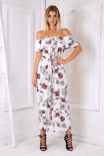Mojito playsuit - White floral