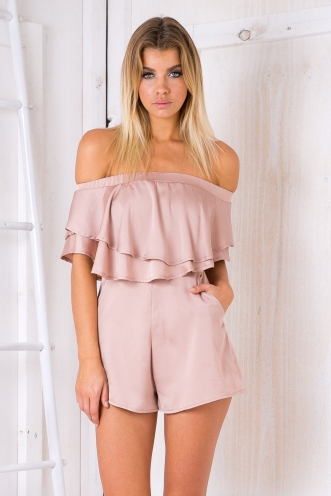Georgia strapless playsuit - Beige