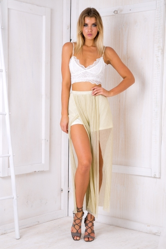 Sunray split pants - Gold