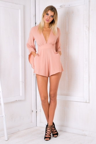 Mariella playsuit - Dusty Apricot