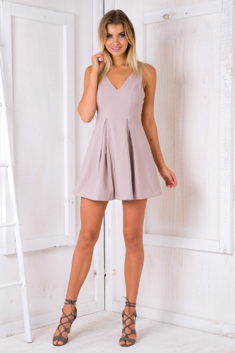 Game changer dress -Taupe