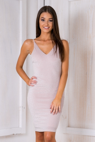 Sparks bodycon dress - Pink glitter